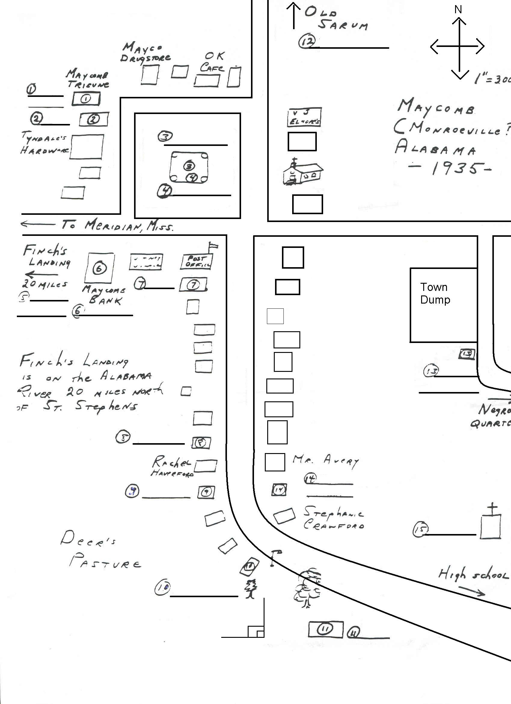 Awesome To Kill A Mockingbird Map Of Maycomb Galleries - Printable ...